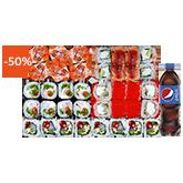 Суши-бокс 1 кг Нью-Йорк заказать суши min